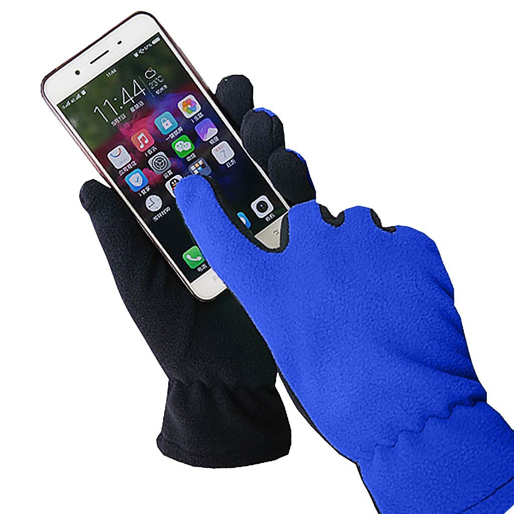 Men Women Screen Available Windproof Warm 2020 Winter Gloves Women And Men Girls Knitted Mittens Warm Soft Gloves#j8