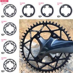 Велосипедная круглая шатунная пластина 110BCD, узкая широкая велосипедная шатунная пластина для MTB велосипеда 40T/42T/44T/46T/48T/50T/52T