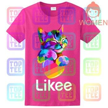 likee app t-shirt likee heart cat shirt 2019 cool t shirt fun tee 8