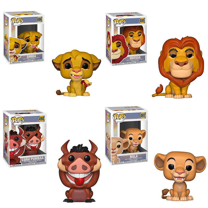 FUNKO POP The Lion King Simba Nala Luau Pumbaa Figure PVC Action Figure Collection Model Children Toys For Kids Birthday Gift