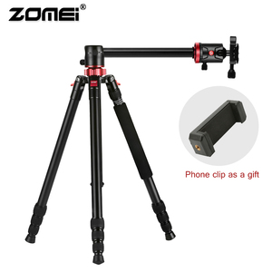 Image 2 - ZOMEI נסיעות מצלמה חצובה M8 אלומיניום חדרגל מקצועי חצובה גמיש עם טלפון מחזיק עבור שידור חי DSLR Canon Sony