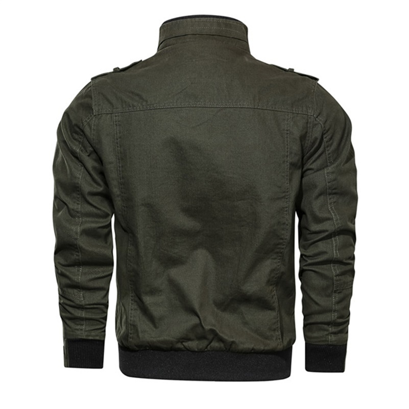 2020 Military Jacket Men Spring Autumn Cotton Windbreaker Pilot Coat Army Men's Bomber Jackets Cargo Flight Jacket Male Clothes 3