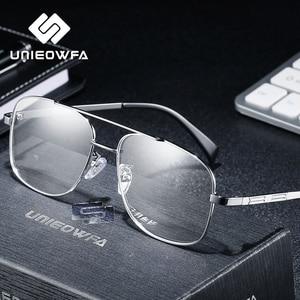 Image 3 - High Quality Prescription Frame Glasses for Men Transparent Clear Eyeglasses Frame Optical Myopia Spectacles Pilot Style 2019