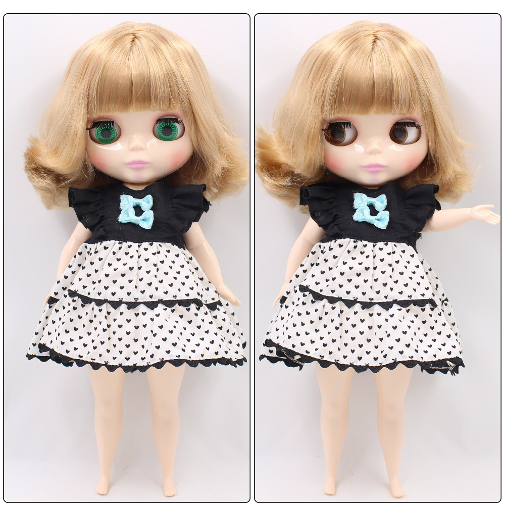 Neo Blythe Plump Doll with Blonde Hair, White Skin, Shiny Face & Fat Body 1