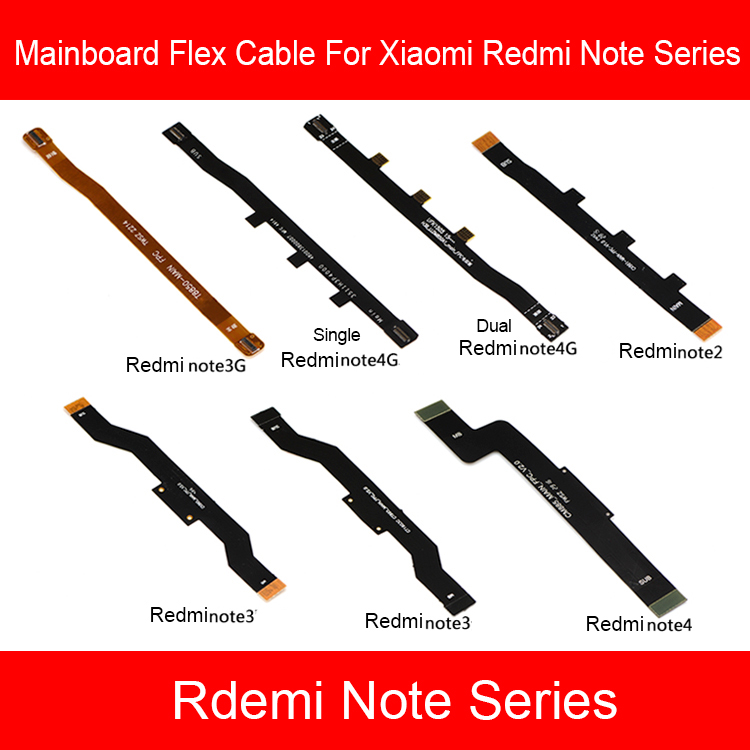 Main Board Mainboard LCD Flex Cable For <font><b>Xiaomi</b></font> <font><b>Redmi</b></font> <font><b>Note</b></font> 2 3 3G 4 <font><b>4X</b></font> 4G 5 5A 6 7 Pro <font><b>Motherboard</b></font> Flex Ribbon Cable Replacement image