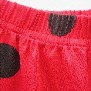 Image 5 - Пижамный комплект «Леди Баг», пижама с длинными рукавами для девочек, повседневная домашняя одежда в горошек, красная одежда для сна, комплекты одежды для девочек