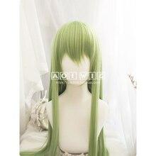 Fgo Fate Grand Order Enkidu Pruik Groen 90Cm Lange Rechte Cosplay Synthetisch Haar Voor Volwassen Enkidu Pruik