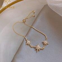 XIYANIKE – Bracelet de mariage en argent Sterling 925 pour femmes, élégant, à la mode, Design huit étoiles, bijoux en cristal, accessoires de fête, cadeau