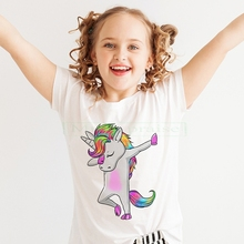 Kids Girl T Shirt Summer Baby Boy Cotton Tops Toddler Tees Clothes Children Clothing Unicorn T-shirts Short Sleeve Casual Wear summer boys t shirt children tops clothing cotton dinosaur short sleeve t shirts kids boy white girls tee toddler 1 8years baby