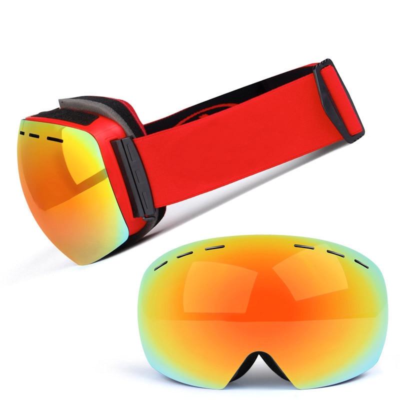 Ski Goggles UV400 Protection Snowboard Eyewear Anti-fog Big Ski Mask Glasses Snow Snowmobile Man Women Skiing Outdoor Sport 2