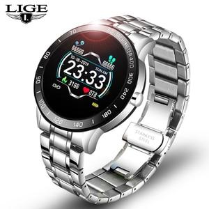 Новинка 2020, мужские спортивные Смарт-часы с цветным экраном, мужские фитнес-трекер для iPhone/xiaomi, функция сердечного ритма, кровяного давления...