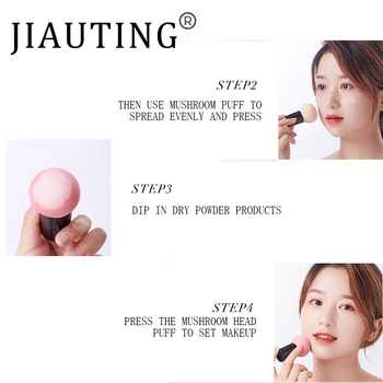 JIAUTING Makeup Sponge Cosmetic Puff with Handle Puff For Foundation Concealer Cream Powder Puff Smooth Women's Makeup 1Pc 3