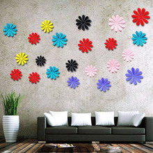 12 Pcs/Set 3D Wall Stickers Removable Self-Adhesive Creative Wallpaper Kindergarten Dorm Room Cute Solid Color Background New