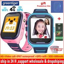 Greentiger 4G сеть A36E Wifi GPS SOS Смарт-часы дети видео звонок IP67 Водонепроницаемый Будильник камера детские часы VS Q50 Q90