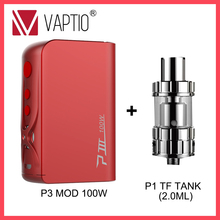 цены на Gift TANK E Vape MOD 100W Vaptio P3 BOX MOD 3000mah built in battery fit 510 Thread tank atomizer dropshipping  в интернет-магазинах