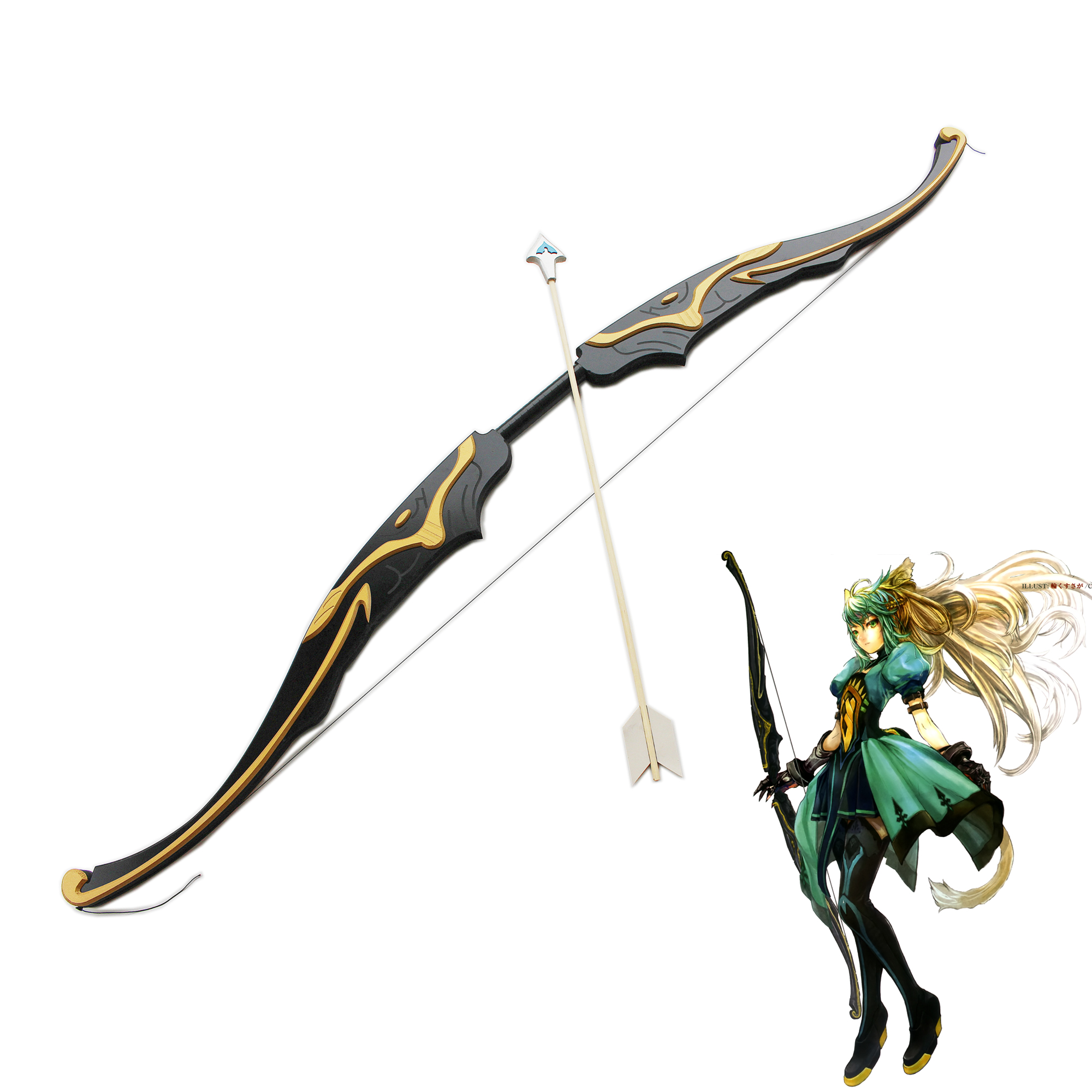 Tauropolos Fate/Grand Order Saber Atalanta Weapons Cosplay Costume Prop