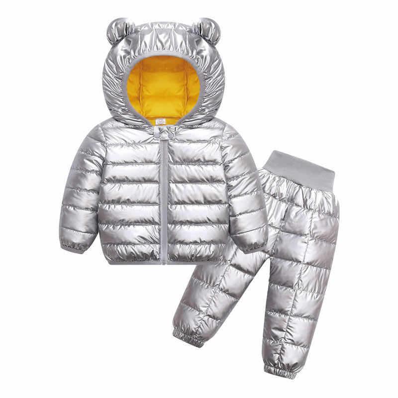Winter Girls Boys Toddler Coat Kids Down Coat Winter Jackets Girls Outerwear Children Snowsuit Clothes 2PCS Set Doudoune Fille 4