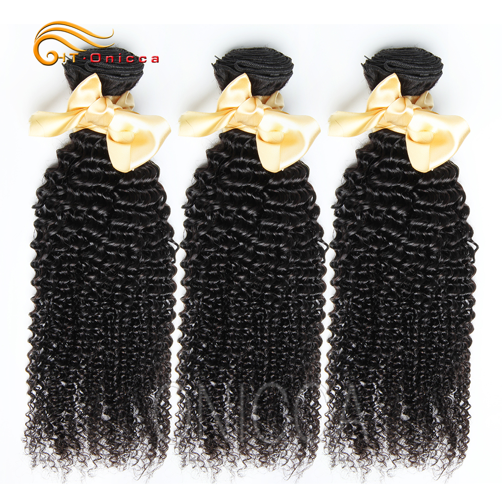 Brazilian Kinky Curly Hair Weave Bundles 8 To 26 28 Inch 100% Human Hair 3 Or 4 Bundles Natural Black 1 PCS Remy Hair Extensions