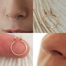 No Piercing Needed Clip On Nose Ring Medical Titanium