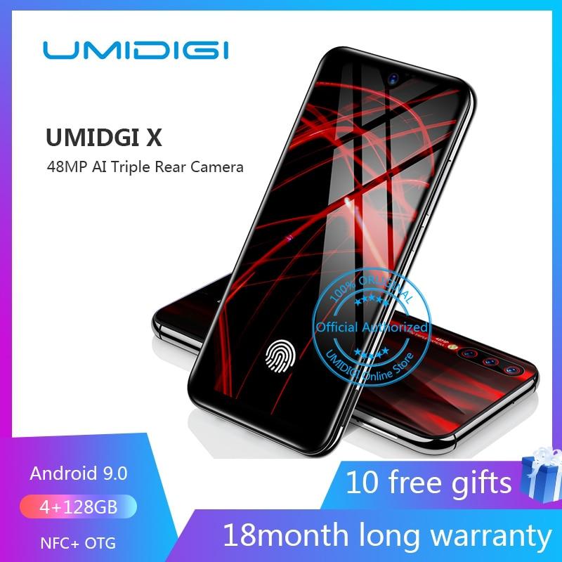Umidigi X In Screen Fingerprint 6 35 Amoled 48mp Triple Rear Camera 128gb Nfc Cellphone Android 9 0 4g Smartphone Unlocked Cell Cellphones Aliexpress