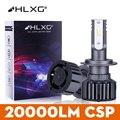 H11 светодиодный H16/JP HB4 HB3 H7 H4 20000LM головной светильник лампочка H8 9005 9006 для автомобильных фар мотоцикла диоды для подавления переходных скачк...