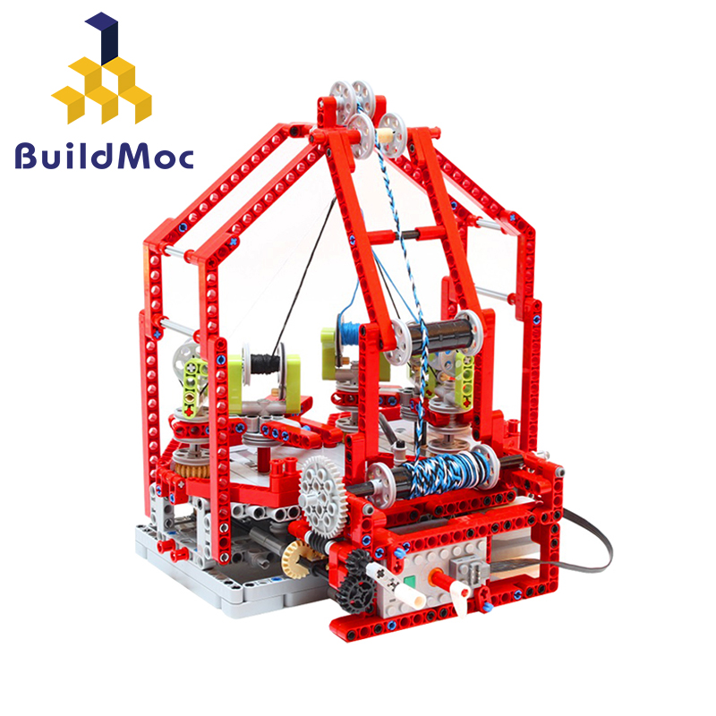 Buildmoc Slide Blocks Compatible LegoINGlys Fast Braiding Machine City Roof Particle Building Blocks Castle Brick Toys For Child image
