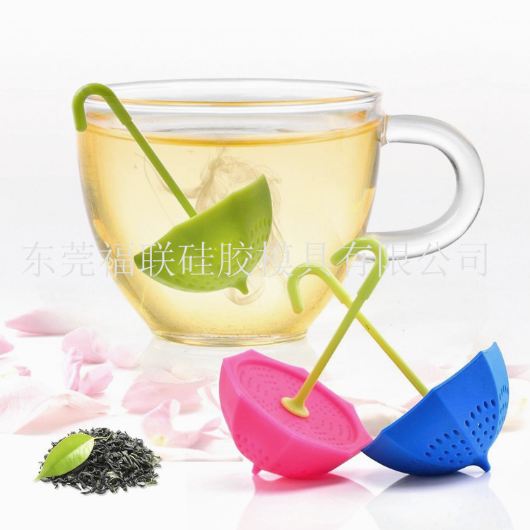 Currently Available For Life Commodity Umbrella Tea Strainer Creative Small Umbrella Silicone Tea Maker Network Hot