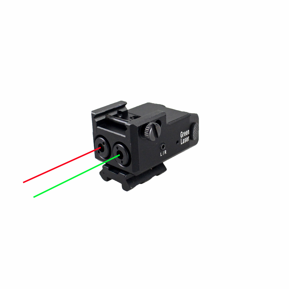 USB Rechargeable Tactical Green Red Dual Beam Aiming Laser Sight For Subcompact To Full Size Handguns