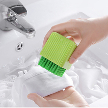 купить Kitchen Dish Washing Brush Utensils Pot Dish Brush With Washing Up Dispenser Shoes Cleaning  Silicone дешево