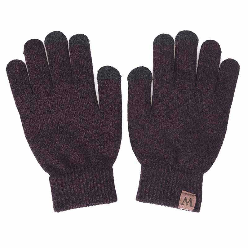 YEABIU, зимняя женская шапка, шарф, перчатки, набор, теплые, для девушек, Skullies Beanies, шапка, Infinity, для мужчин, шапка с сенсорным экраном, перчатки, набор для женщин - Цвет: dark red