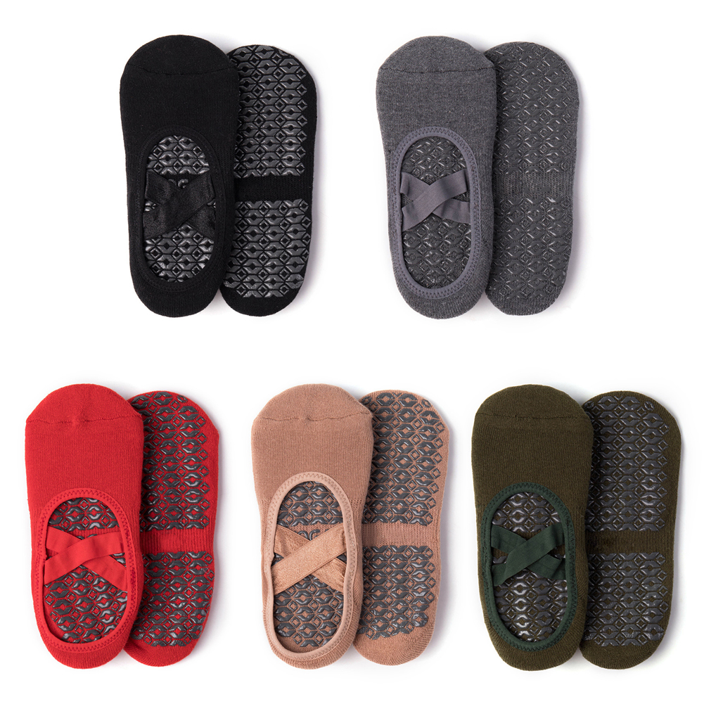 Women Yoga Anti-slip Socks Backless Silicone Non-slip Socks Ballet Dance Gym Fitness Pilates Socks