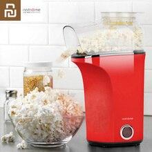 Youpin máquina de popcorn, máquina de popcorn pequena saudável, fácil de operar, feliz tempo com amante da família