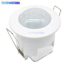 Capteur de mouvement infrarouge PIR pour plafond, 110/220V, détecteur de corps, luminaire, interrupteur, allumage/extinction automatique lampes LED