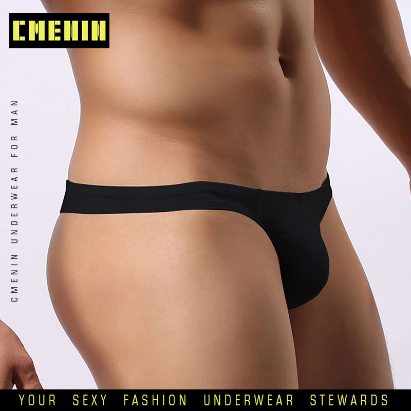 2020 New Men Underwear Thongs Jockstrap Sexy Gay Men Briefs Thong Men G String Sissy Panties Cueca Cotton Modal Underpants AD313