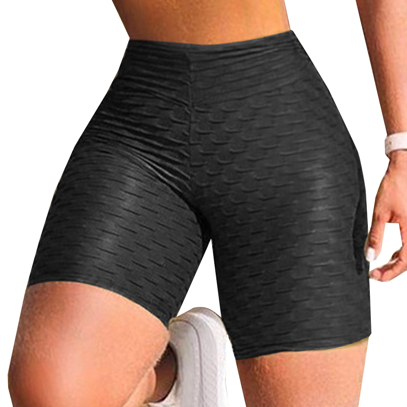 Vicabo Jacquard Shorts For Women 2020 Summer Shorts Knee Short Bodycon Femme Sport Slim Fit High Waist Shorts Gym