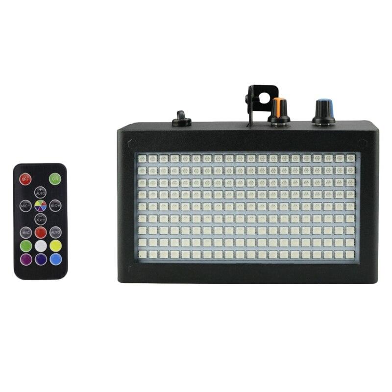 TOP 180 Leds Strobe Flash Light Portable 35W Rgb Remote Sound Control Strobe Speed Adjustable For Stage Disco Bar Party Club(Eu