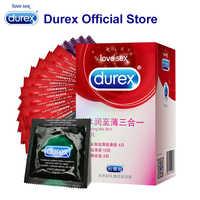 Durex préservatifs Ultra mince nervure fil produits sexuels en caoutchouc naturel Latex préservatif intime marchandises coq pénis manchon pour le sexe hommes femmes