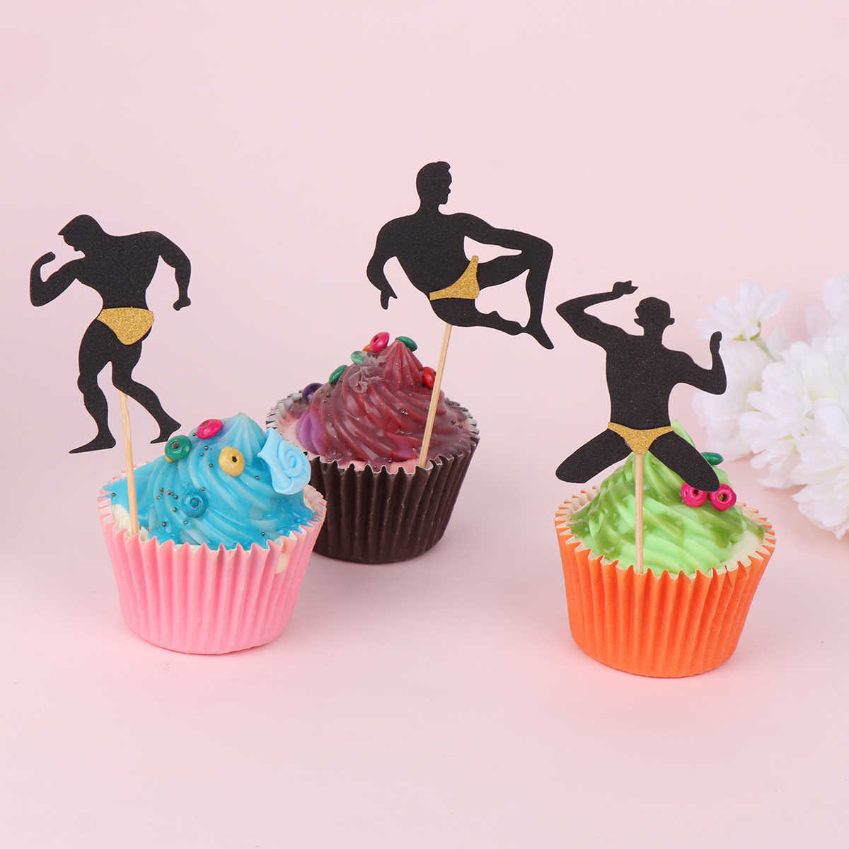 Magnificent Cup Cake Decoration Toppers Muscular Man Cupcake Toppers Cake Personalised Birthday Cards Xaembasilily Jamesorg