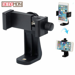 360 Degree Rotation Tripod Mount Holder Cell Phone Stand Bracket Clip Mount Bracket Adapter for Mobile Phones Smartphone