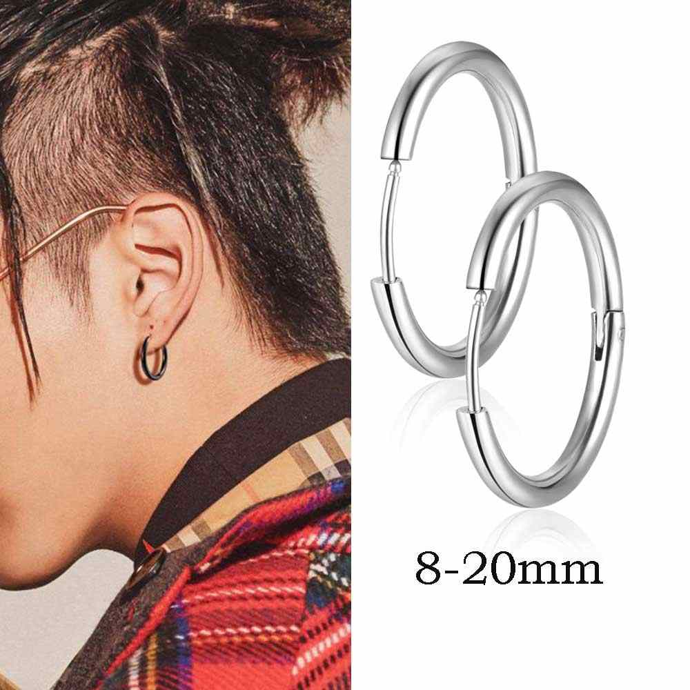 AAAAA Quality 100% Stainless Steel 2.5mm 8-20mm Men Earring