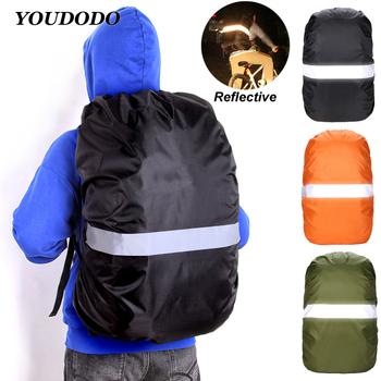 20-80L plecak odblaskowy pokrowiec przeciwdeszczowy 20L 35L 45L wodoodporny pokrowiec Outdoor turystyka wspinaczka osłona pyłoszczelna do plecaka tanie i dobre opinie YOUDUDU CN (pochodzenie) E10135 Unisex Waterproof dustproof Miękka osłona NYLON 20L 35L 45L 60L 80L rain cover backpack