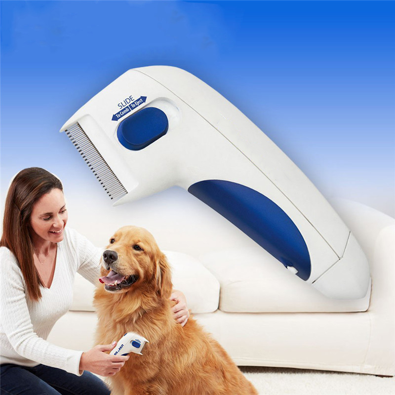 Pet Anti Removal Kill Lice Cleaner Electric Head Pet Fleas Electronic Lice Comb Dog Electric Terminator Brush Dog Combs    - AliExpress