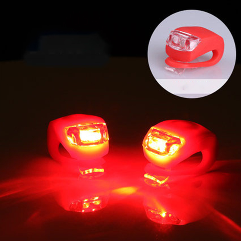 Bicycle Light Silicone LED Bicycle Safety Lamp Head And Front Wheel Bicycle Light Waterproof Battery Battery Accessories