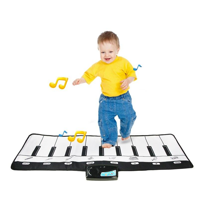 110x36cm música tapete de piano 10 teclas crianças brinquedo musical jogando esteira crianças brinquedo educativo música instrumentos musicais sons