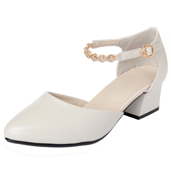 Summer Baotou Sandals Women's With A Word Buckle Thick With A Bag With Hollow Mother Shoes Leather Soft Bottom