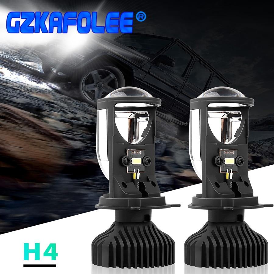 2PCS Canbus 90W/Pair Lamp H4 LED Mini Projector Lens Automobles Bulb 14000LM Conversion Kit Hi/Lo Beam Headlight 12V/24V RHD LHD