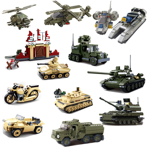 Image 2 - Military Tank Car Truck Plane Spaceship WW 2 Army Figures Series Set Soldier Weapon Building Blocks Bricks Model Toys Boy Gifts
