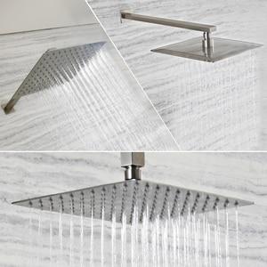Image 1 - 起毛ニッケルステンレス鋼の正方形のシャワーアームシャワー壁は、マウント天井シャワーアーム卸売