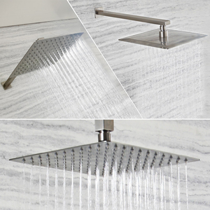 Image 1 - Brushed Nickel Stainless Steel Square Shower Arm Shower Head arm Wall Mounted Ceiling Mounted Shower Head Arm Wholesale