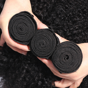 Image 4 - Gabrielle Afro Kinky Curly Hair Brazilian Hair Weave Bundles Natural Color Wholesale Human Hair Extensions Remy Hair 5/10 PCS